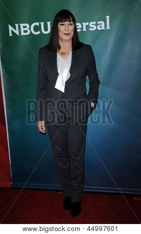 LOS ANGELES - JAN 06:  Anjelica Huston arrives to the NBC All Star Winter TCA 2013  on January 06, 2013 in Pasadena, CA