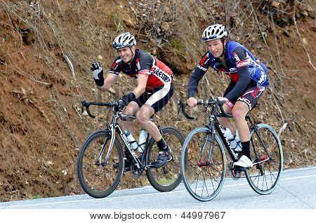 Men Riding Bikes