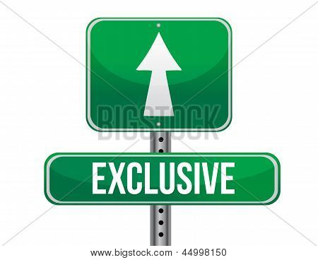 Exclusive Road Sign Illustration Design