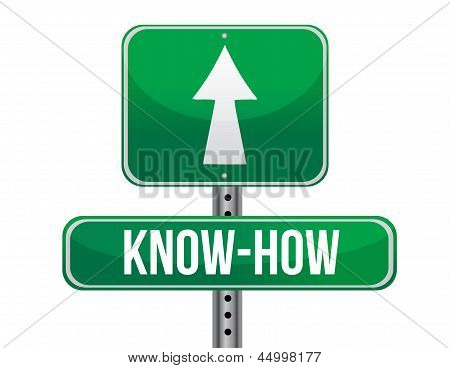 Know How Road Sign Illustration Design