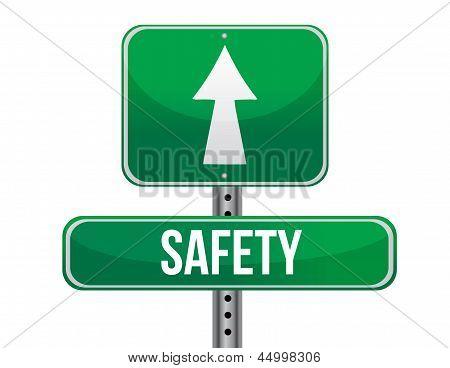 Safety Road Sign Illustration Design