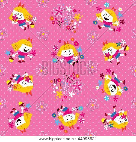 cute flower girl pattern