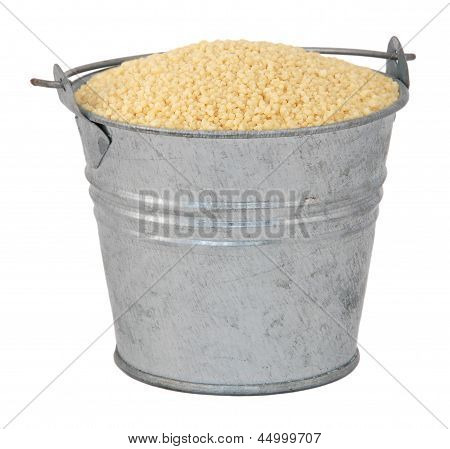 Cous Cous In A Miniature Metal Bucket