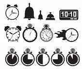 foto of chronometer  - Icon set clocks - JPG