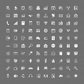 stock photo of paycheck  - 100 universal web icons set vector white on gray - JPG