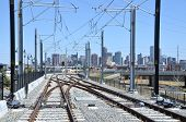 Train Tracks and Downtown Denver