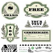 foto of currency  - Vector Money Frames and Ornaments - JPG