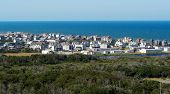 Panoramic View On Buxton From Cape Hatteras Lighthouse