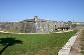 stock photo of conquistadors  - The old fort wall in St - JPG