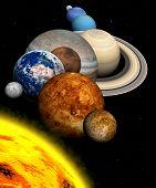 Постер, плакат: Солнечная система