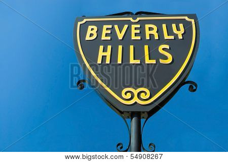 Beverly Hills Sign In Los Angeles Close-up View