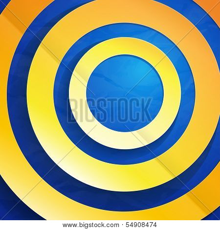 Colorful paper circles abstract background