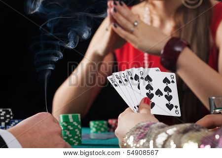 Poker Game In Casino