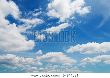 Billows And Blue Sky