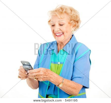 Senior Woman Texting Spaß