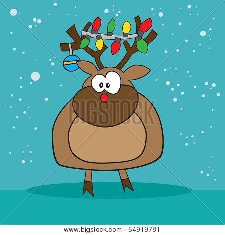 Holiday Rudolf the red nose reindeer weird