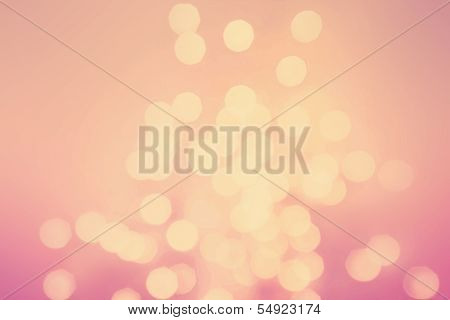 Abstract Natural Blur Defocussed Background. Retro Style In Golden And Pink Tonned Color