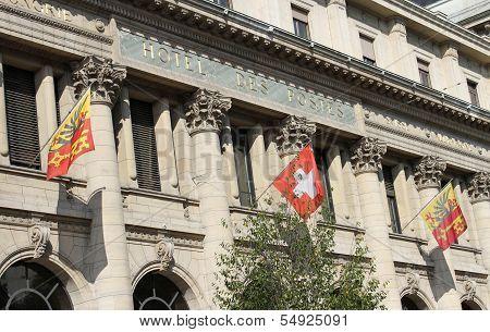 Post office facade, Geneva, Switzerland
