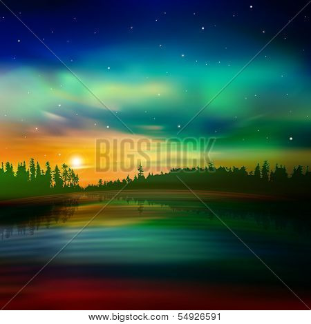 Abstract Nature Background With Forest