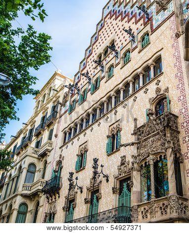 BARCELONA, SPAIN - JUNE 02: Casa Amatller in June 02, 2013 in Barcelona, Spain. Casa Amatller in 1900 by Josep Puig i Cadafalch