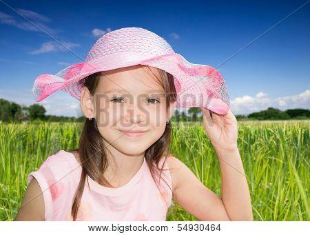 ?ute little girl with bonnet