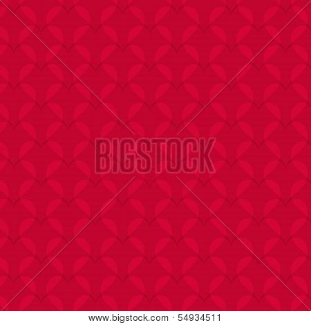 Abstract Hearts Pattern On Red Background