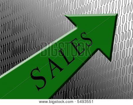 Sales Green Arrow