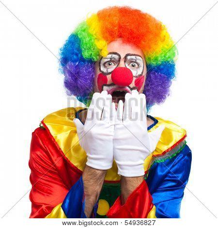 Shocked clown portrait