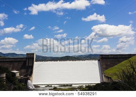 Dam Wall Waters Flowing Valley