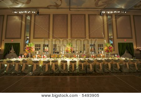 Wedding Head Table Stock photo