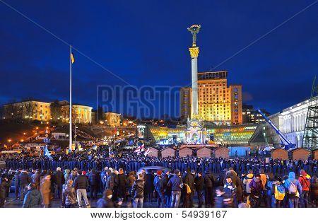 Maidan Nezalezhnosti. Kiev. Ukraine. December 2013