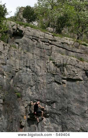 Rock Climber & Goat