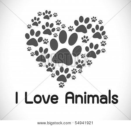 I Love Cat animal  Illustrations