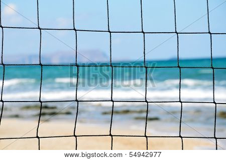 Volleyball Net Close-up