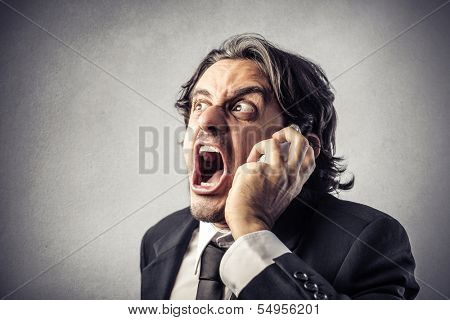 Enraged Businessman