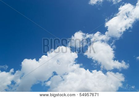 Sky And White Billows