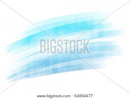 Blue gradient painted brush stroke background