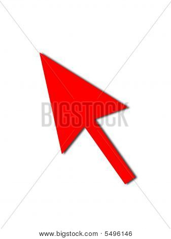 Cursor Arrow Mouse Red