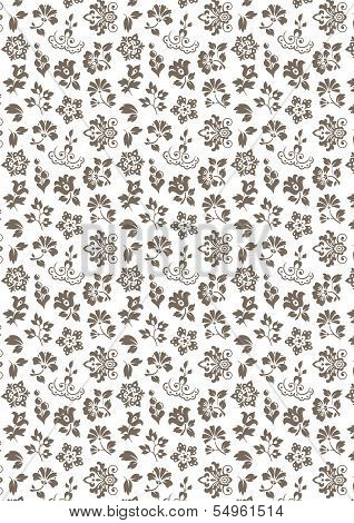 Floral seamless background - pattern for continuous replicate