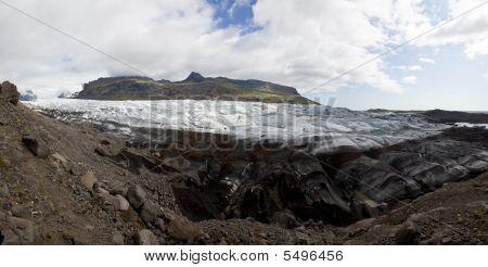 Panoramic Photograph Of The Vatnajokull Glacier, Iceland