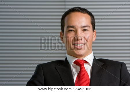 Happy Smiling Asian Business Man