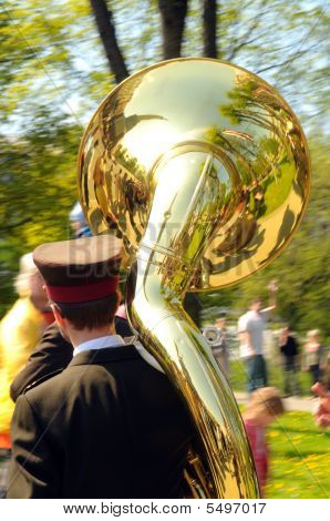 Musican With Trombone