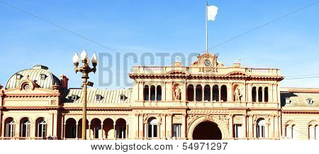 Presidential Palace,casa Rosada,pink House In Buenos Aires, Argentina