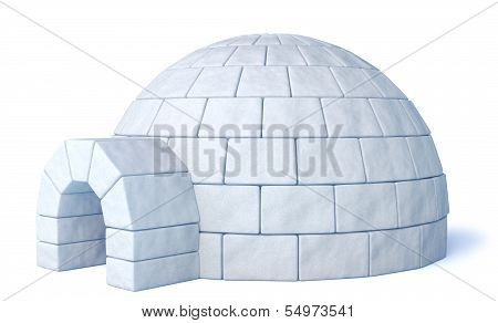 Igloo Isolated On White