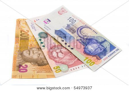 New South African 20 50 And100 Rand Notes