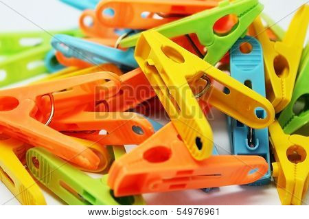 clothespins for drying of linen