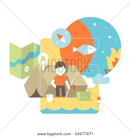 conceptual illustration of fishing
