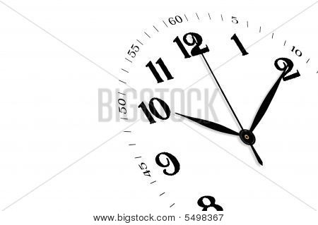 White Clock Isolated, Time Concept