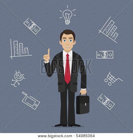 Businessman business idea