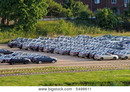 Parking With Lot Of Cars